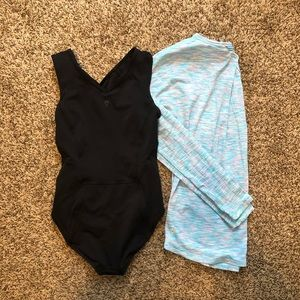 Ivivva lululemon black bodysuit long sleeve bundle